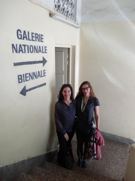 School of Art Director Joanna Grabski and Associate Director Forrest Solis in front of Dak'Art Biennale Office