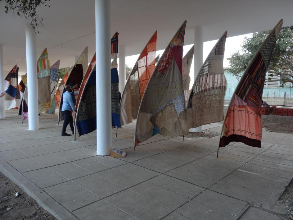 Art installation at Dak'Art International Exhibition