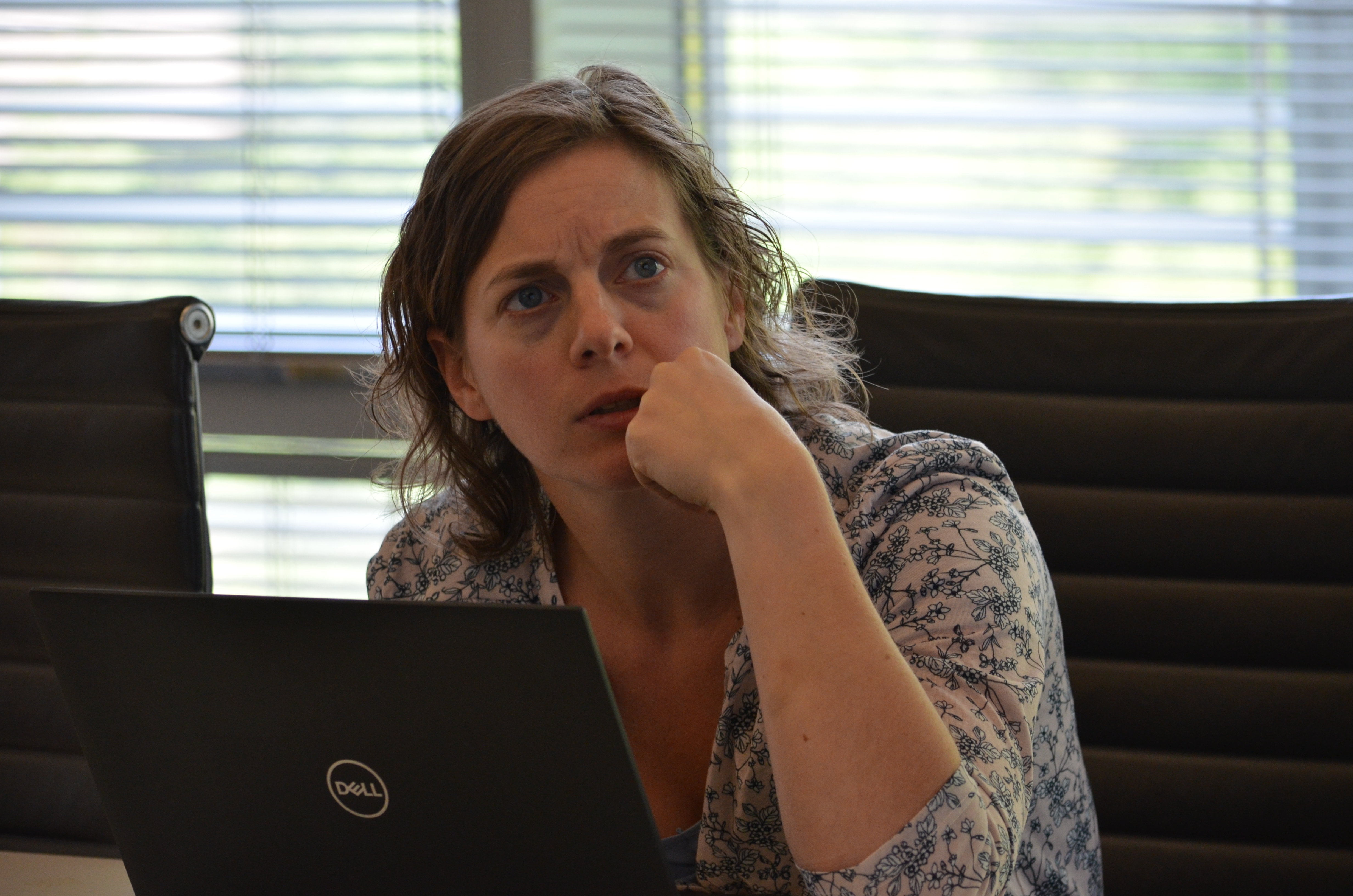 Assistant Professor Silvie Huijben works on aligning BioSpine curriculum