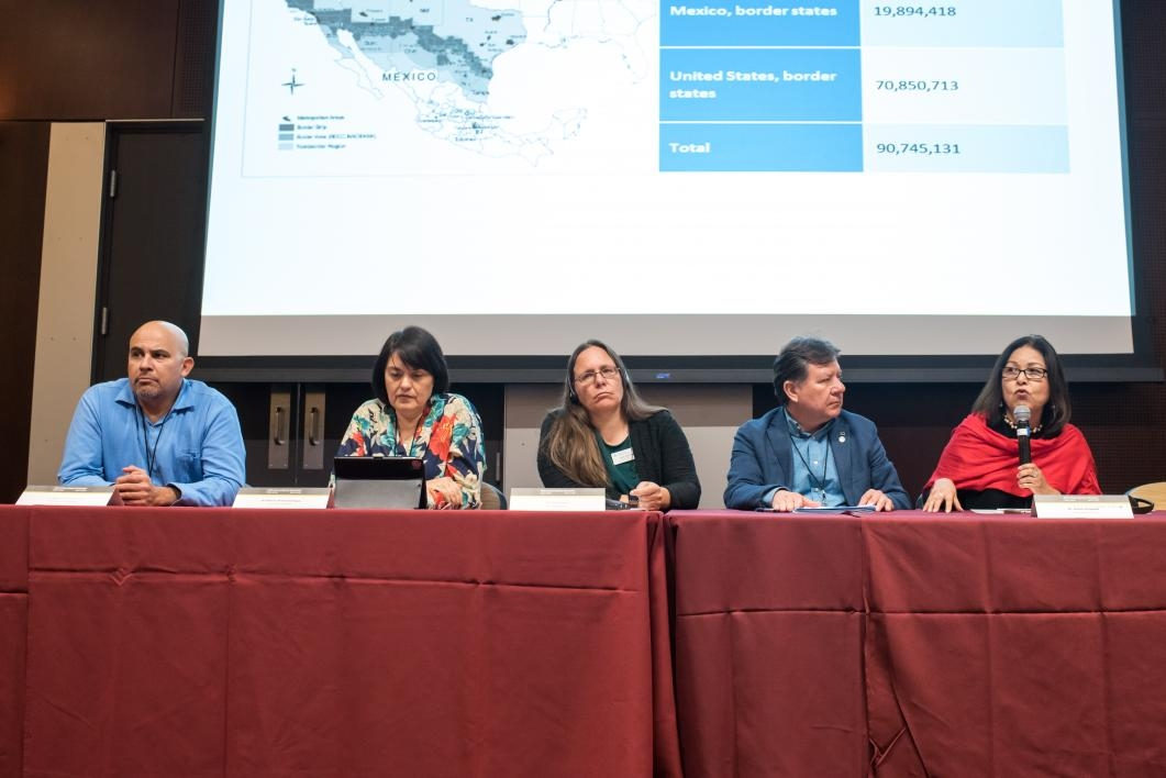 Social scientists from institutions in Arizona and Sonora discuss research and possible collaboration during a panel event at the Arizona-Sonora Colloquium.