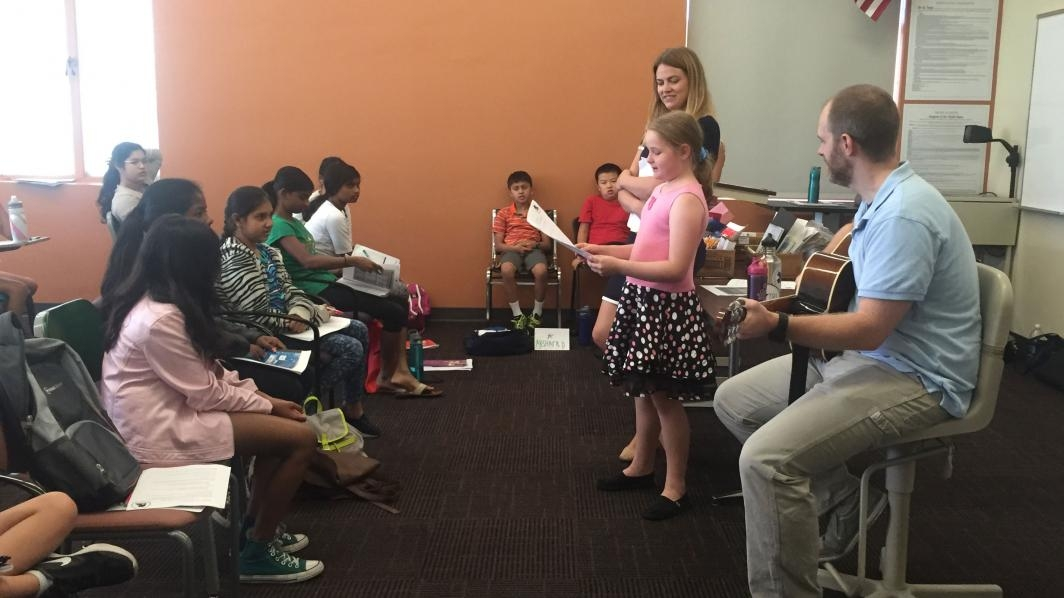 Young Adult Writing Program campers practice creative writing.
