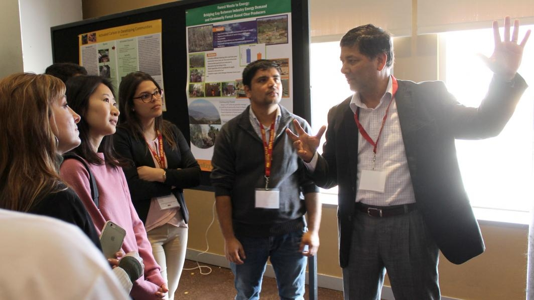Participants shared posters on research