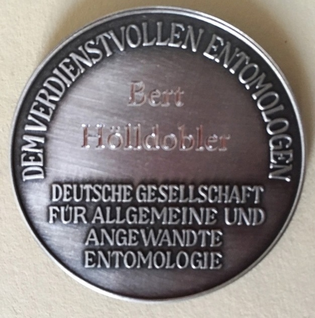 Fabricius Medal from German Entomological Society