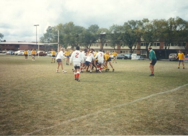 The rugby team in 1989 at NAU.