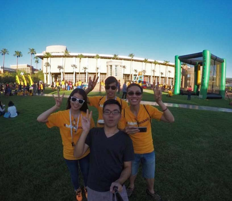 The Fellows attend Fall Welcome on the ASU Tempe campus