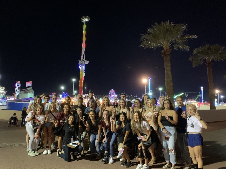 Event management students at the state fair