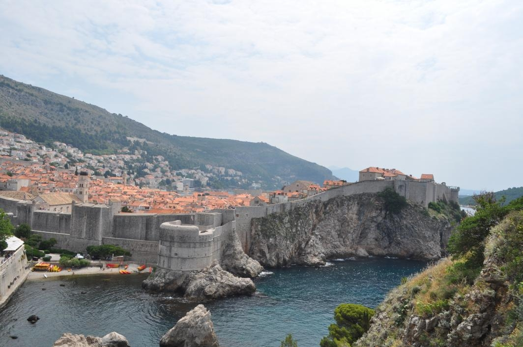 """A fortress by the sea from the summer 2018 """"Game of Thrones"""" study abroad program. / Photo by Mickee Engl"""