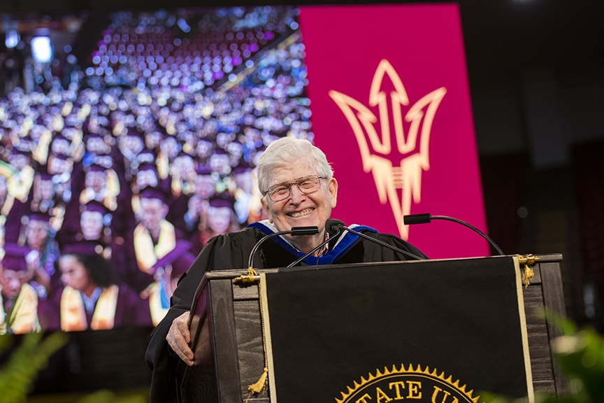 Ira Fulton speaks at ASU engineering convocation