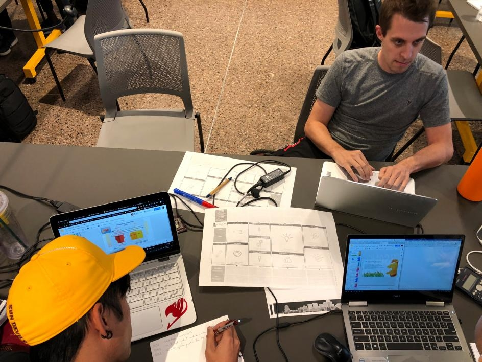 ASU students used coding to create apps as their solution.