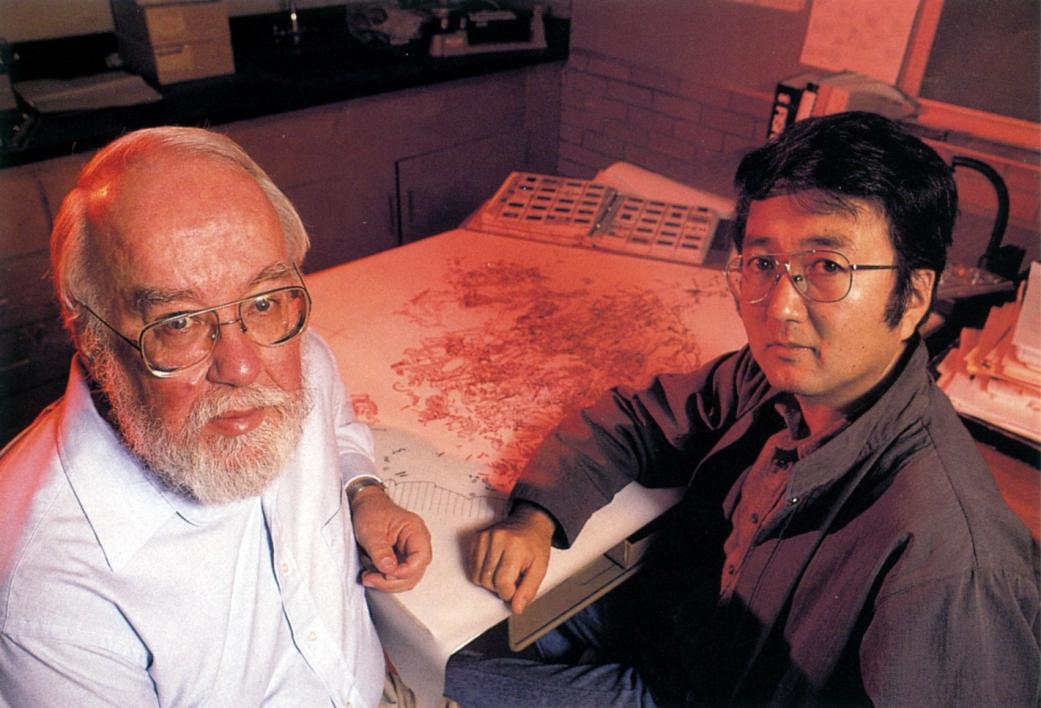 ASU professors George Cowgill and Saburo Sugiyama