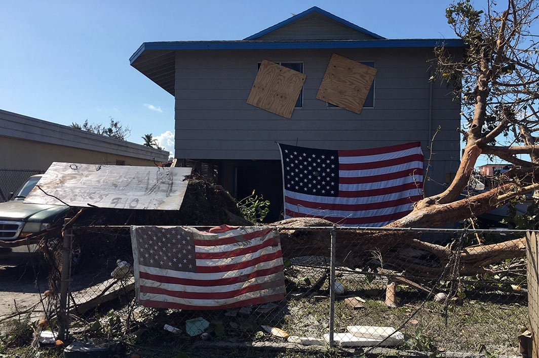 Goodland, Florida home following Hurricane Irma