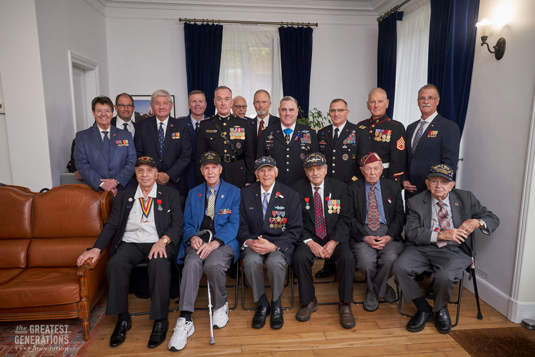 Gregory Melikian with WWII veterans and US Dignitaries