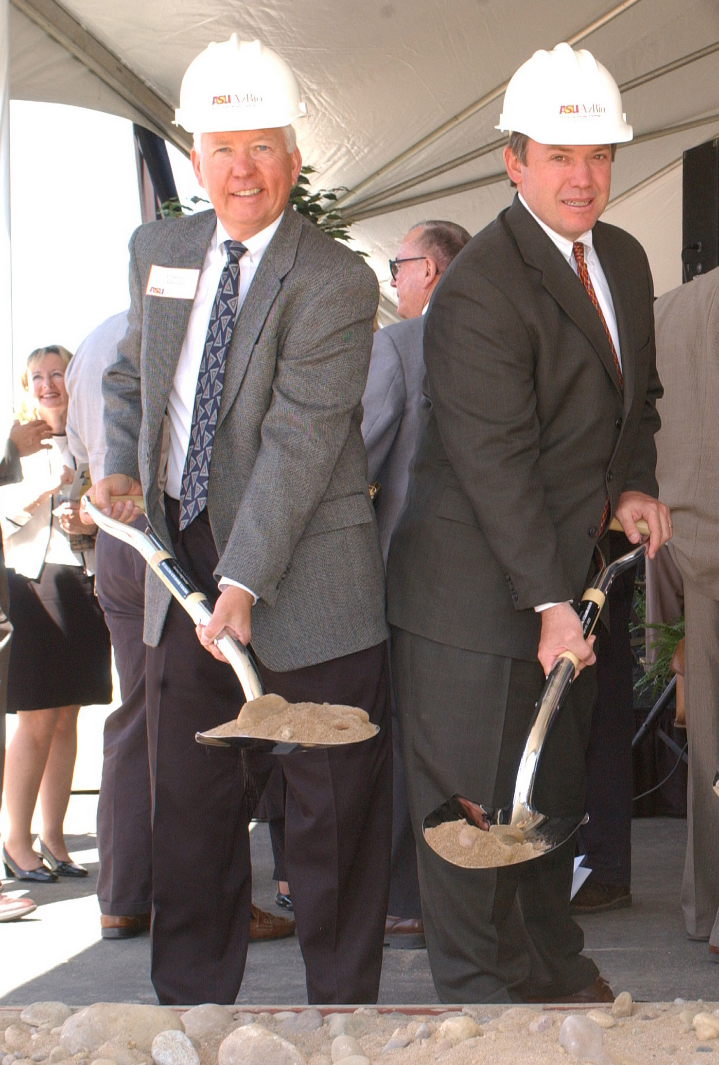 Charles Arntzen and Michael Crow at Biodesign Groundbreaking