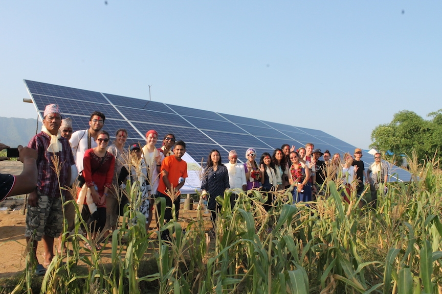ASU students worked with local farmers in Nepal to create solar irrigation systems that help farms bridge between monsoon seasons.