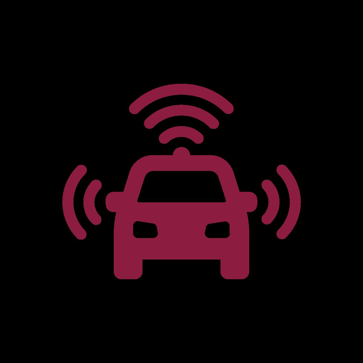 Autonomous driving icon