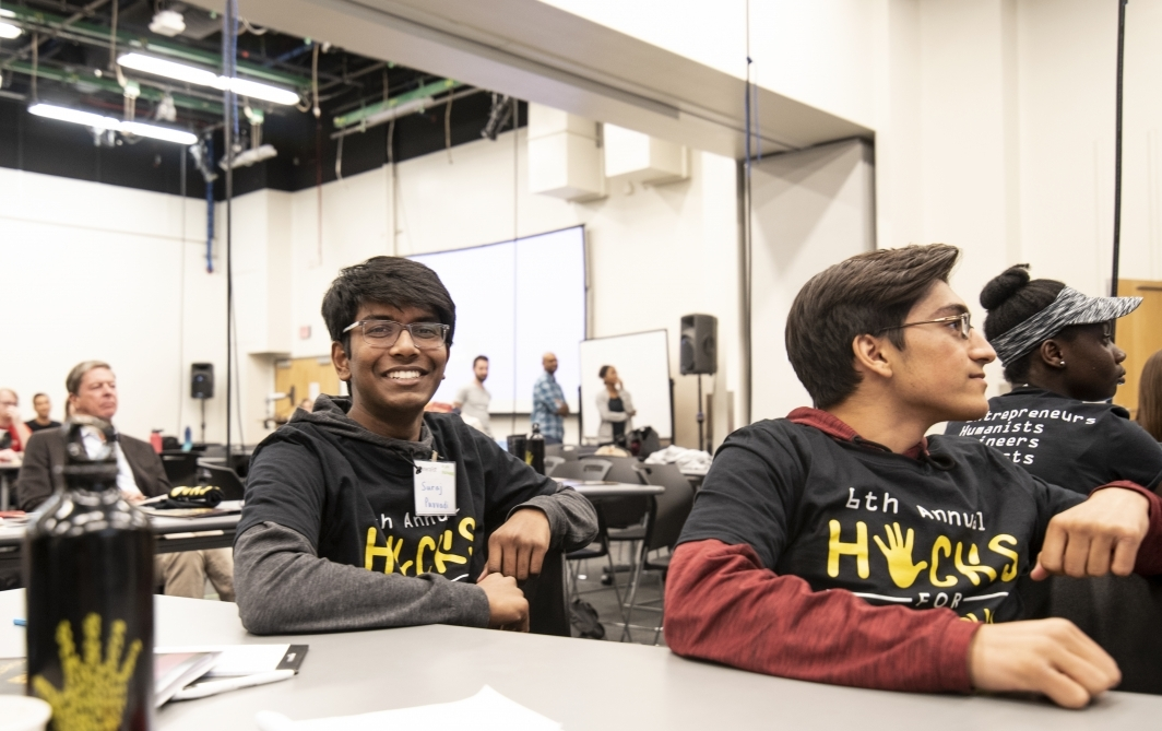 Sixteen-year-old Suraj Puvvadi, who co-created of the winning app Promise, was the youngest competitor at Hacks for Humanity 2019.