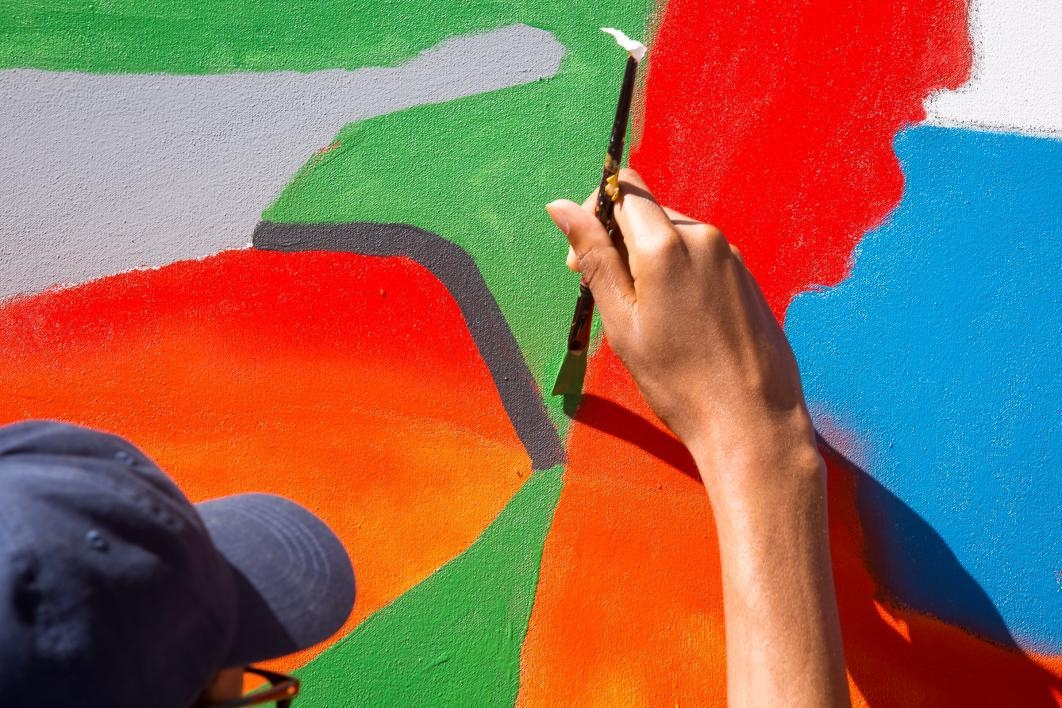 hand painting mural