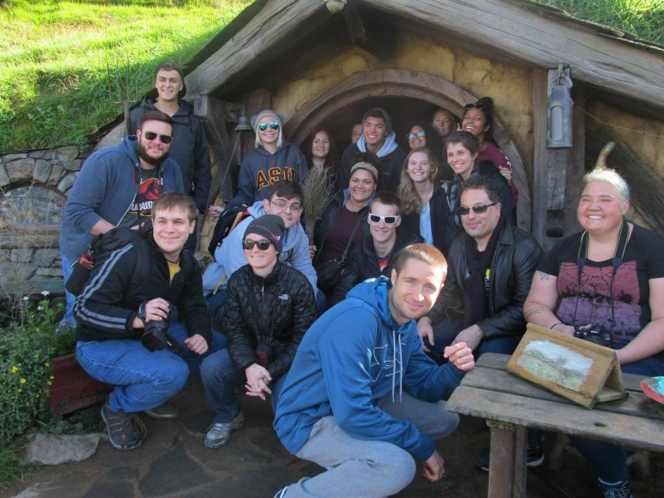 Students on New Zealand study abroad trip