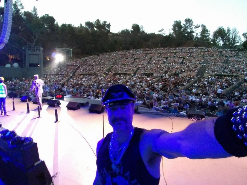 Eric Anzalone takes a selfie at a Village People concert at the Hollywood Bowl / Courtesy photo