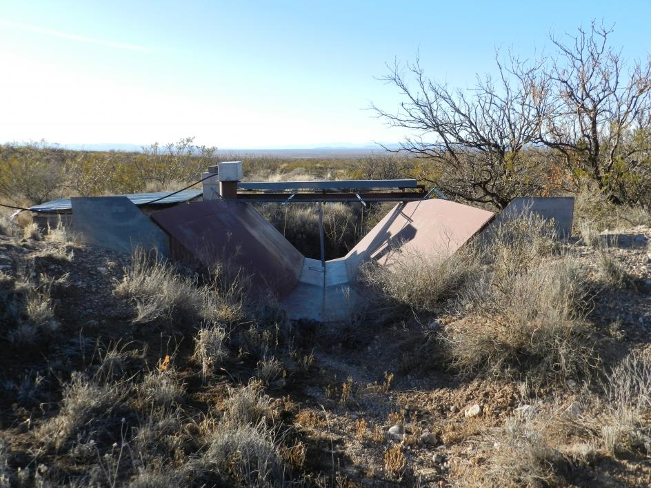 Flume used to measure streamflow,