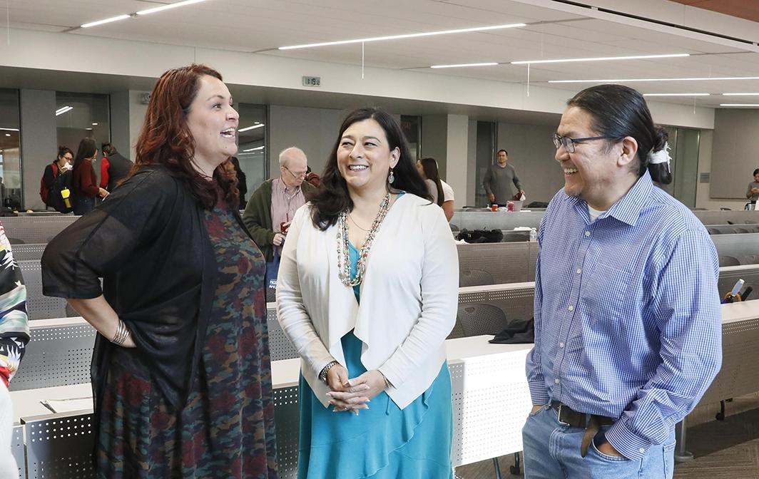 Photo of Doreen McPaul, Kimberly Dutcher and Shawn Attakai