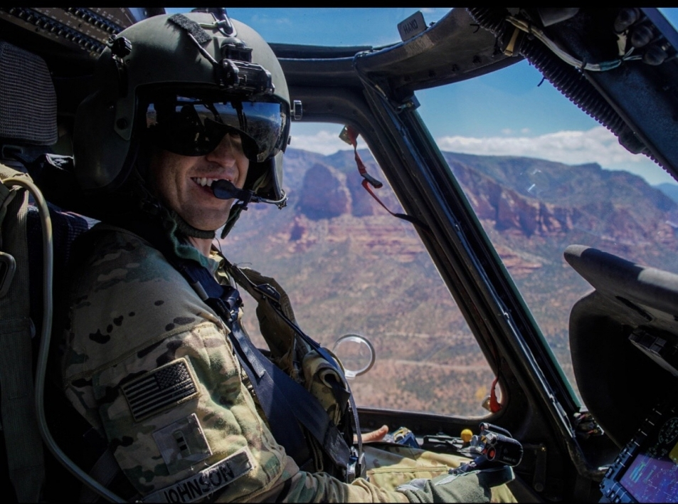 Chase Johnson flying UH-60 Black Hawk