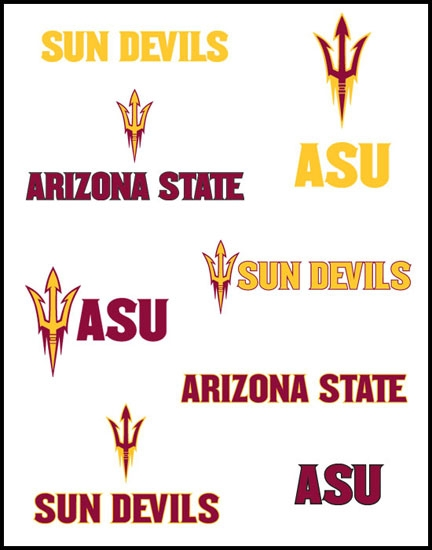 different ASU Athletics logos