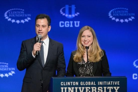 Jimmy Kimmel and Chelsea Clinton at CGI U