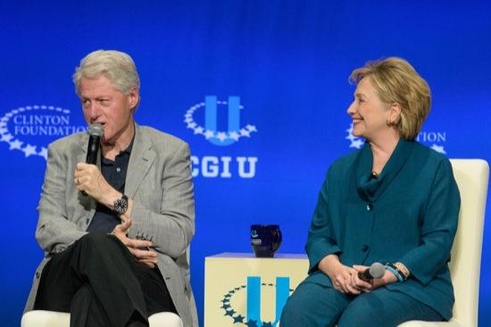 Bill Clinton and Hillary Rodham Clinton at CGI U