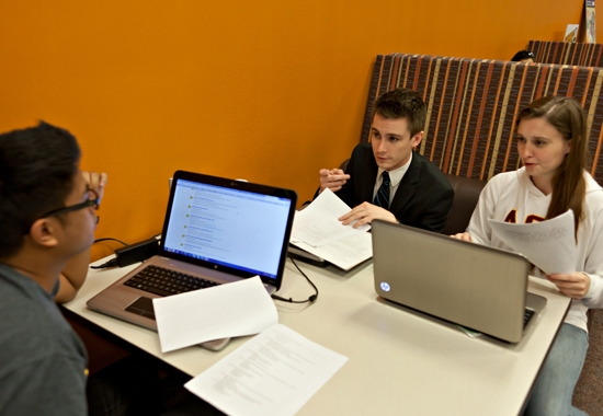students working at whitboard