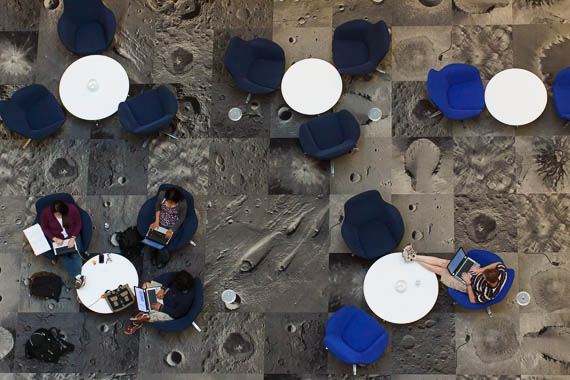 people studying at tables