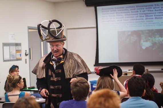 professor talking to class