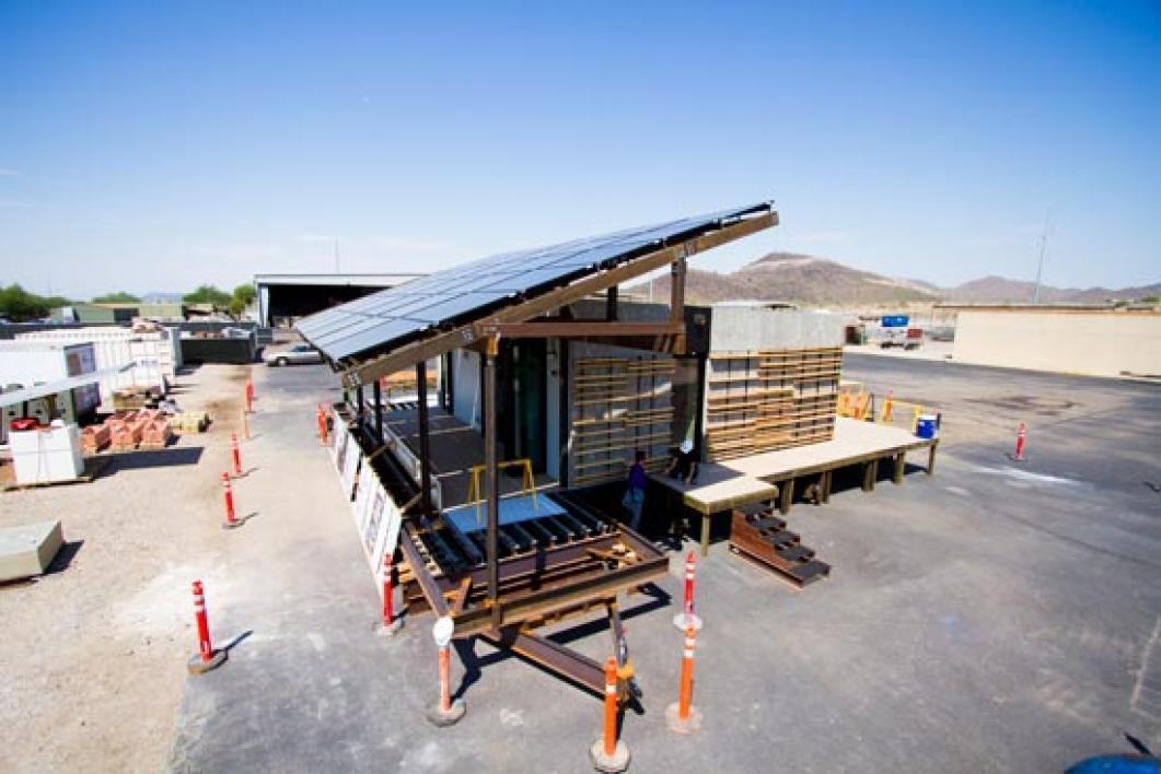 solar canopy on SHADE home