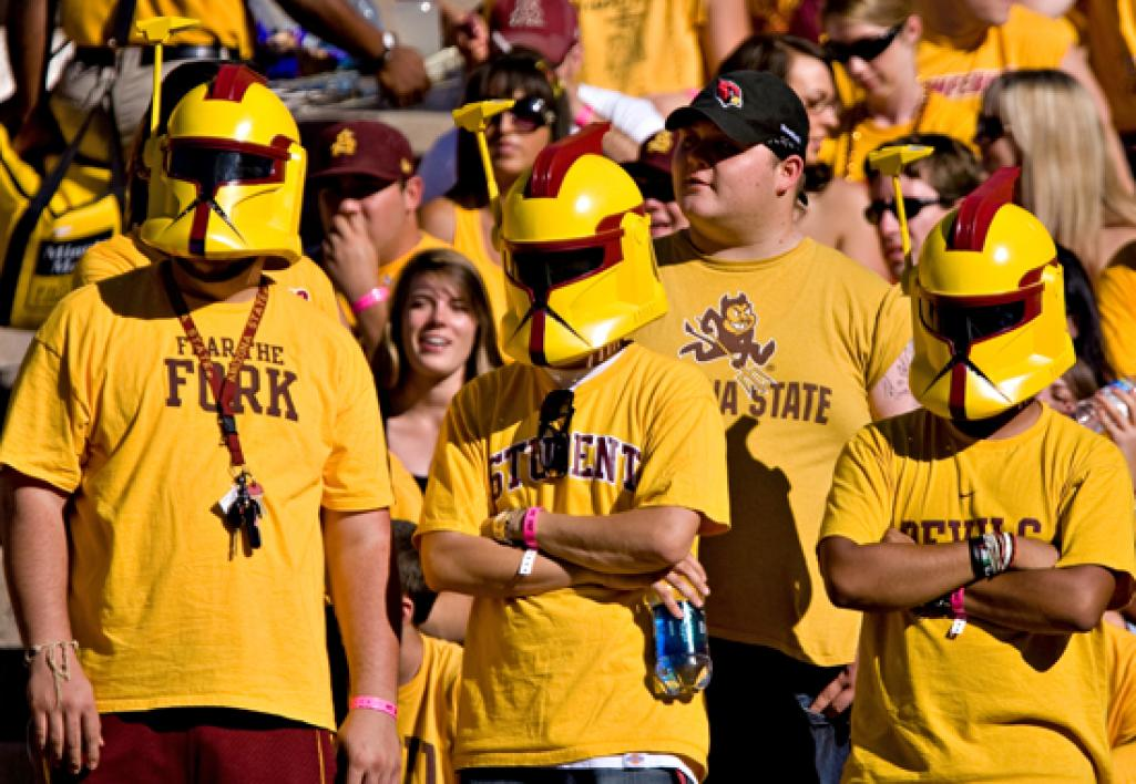 Fans cheer on the Sun Devils