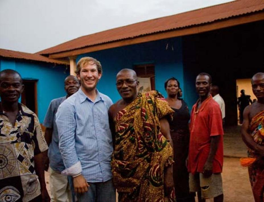 Brian McCollow visits Ghana as part of ASU's GlobalResolve.
