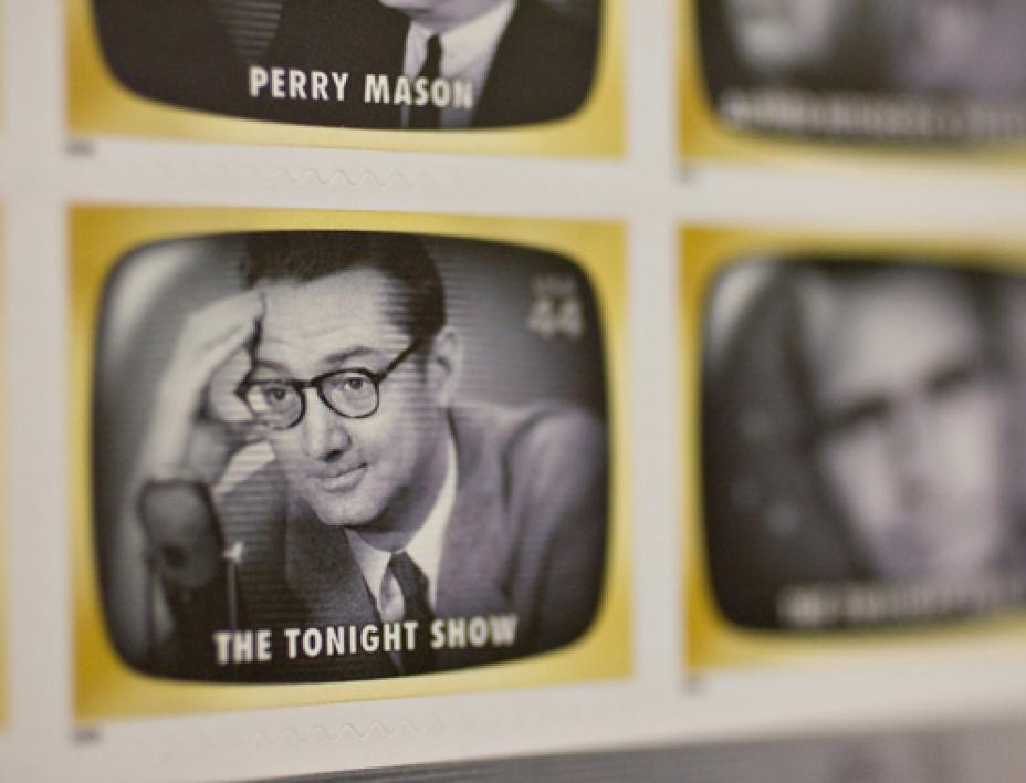 U.S. Postal Service commemorates Steve Allen with stamp.