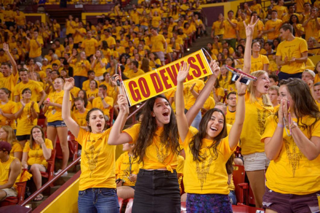 ASU Provost Robert Page addresses students at Sun Devil Welcome