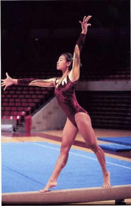 woman on balance beam