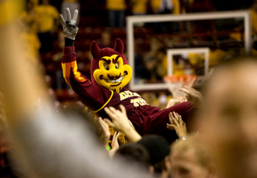 Sparky carried off by the fans