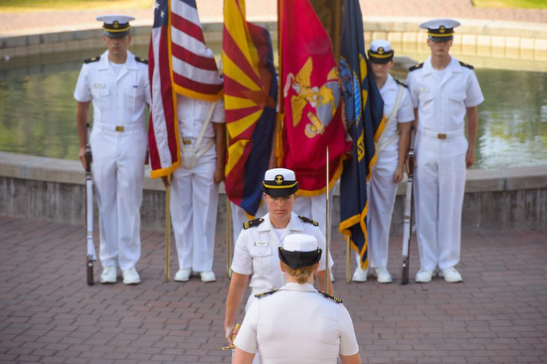 ASU Naval ROTC change of command