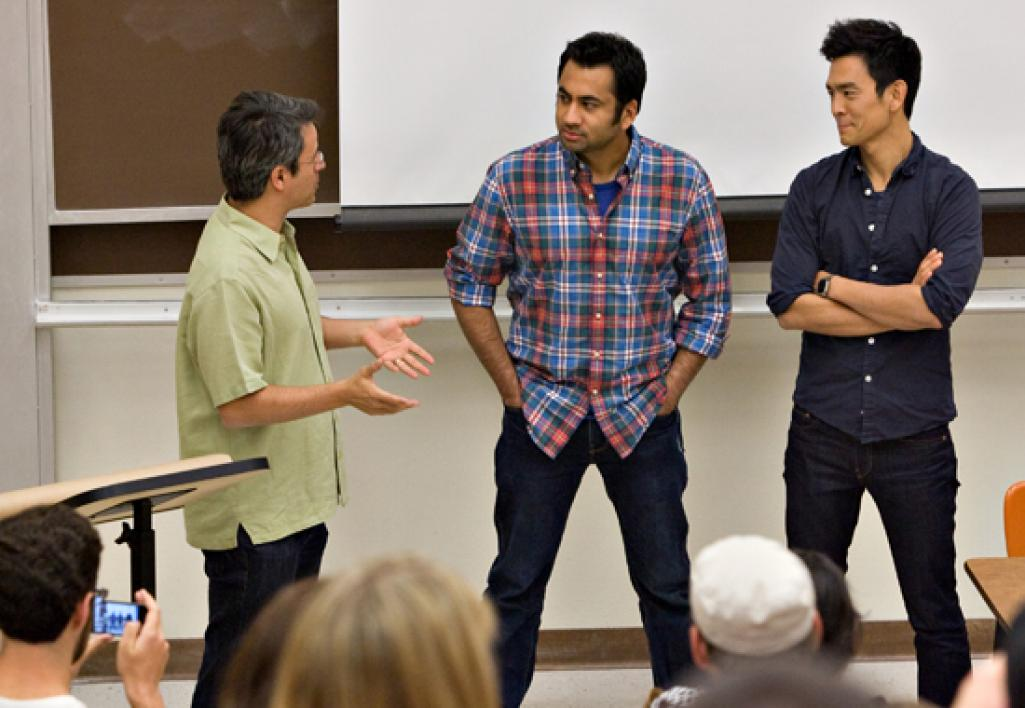 actors speaking to class