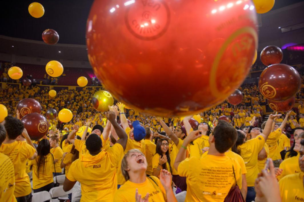 ASU basketball player Shaquielle McKissic speaks at Sun Devil Welcome