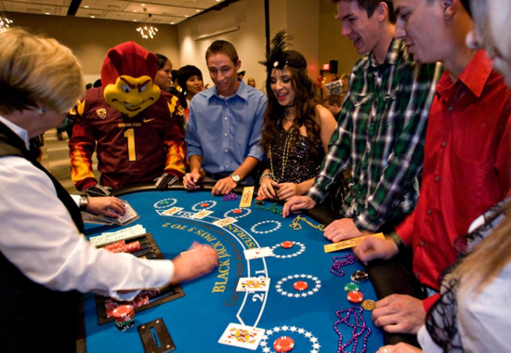 people at blackjack table