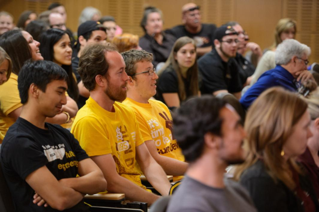 audience at the ASU Academic Bowl