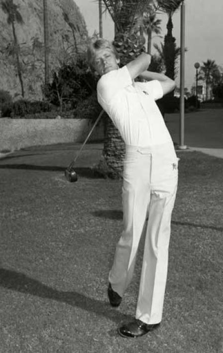 Jim Carter golfing