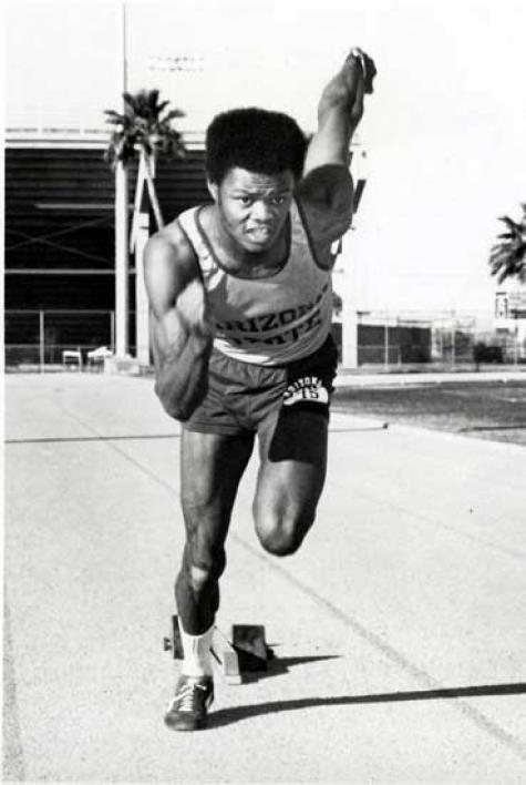 Herman Frazier running