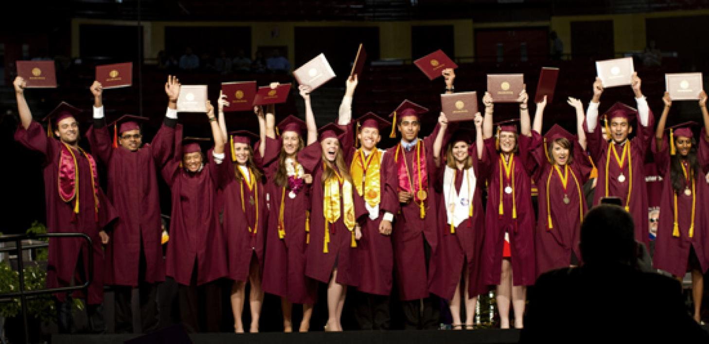 group of engineering graduates