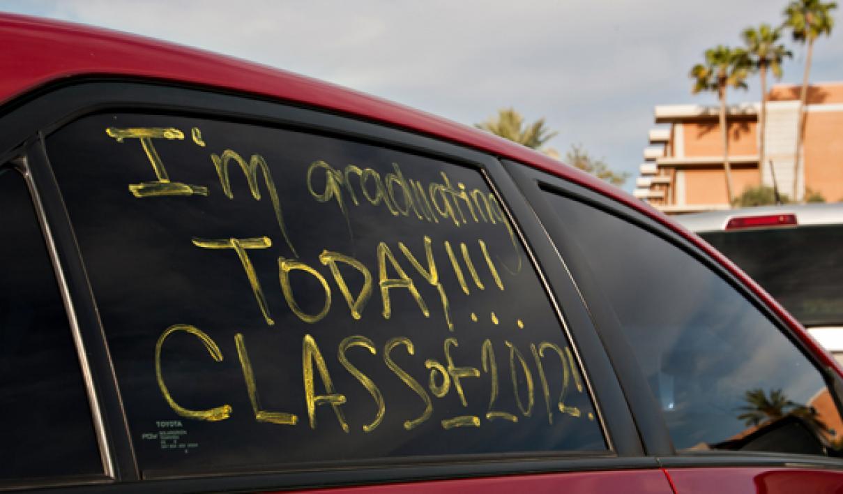 text written on car