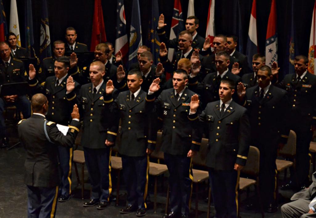 group of Army ROTC cadets