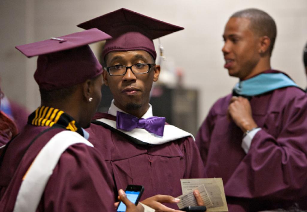 graduates talking
